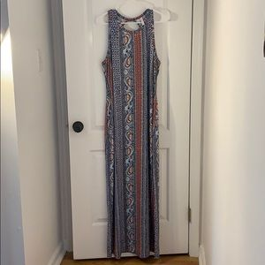 Women's multi colored pattered maxi dress